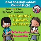 Goal-Setting Labels for Grade 2 Opinion Writers!  Color &