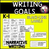 Goal Setting Labels for K-1 Writers! BLACK LINE VERSION ON