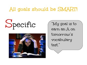 Goal Setting Lesson for Middle School Students
