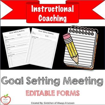 Instructional Coaching: Goal Setting Meeting