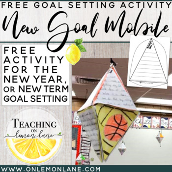 Goal Setting Mobile FREEBIE / New Term Goals / New Year Resolutions