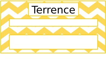Goal-Setting Name Plates Editable
