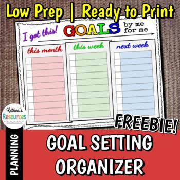 Goal Setting Organizer FREEBIE