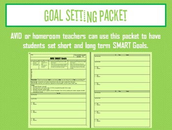 Goal Setting Packet