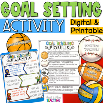 Goal Setting Plays sorting activity and worksheets