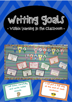 Goal Setting Posters For Writing - Visible learning in the
