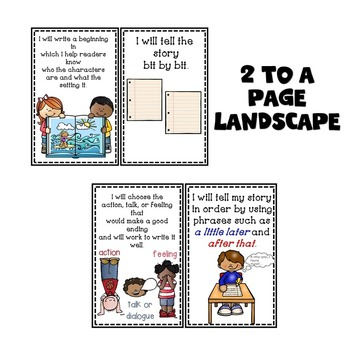 Goal Setting Posters for Narrative Gr. 3 Writers
