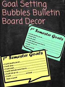 Goal Setting Printable Bulletin Board