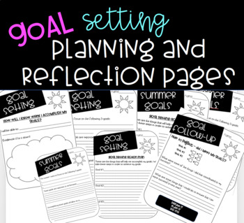 Goal Setting Printable pages - Great for Back to School!