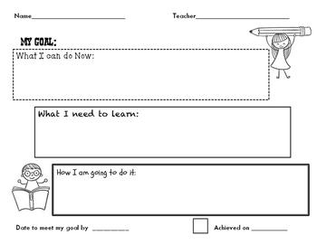 Goal Setting Recording Sheet