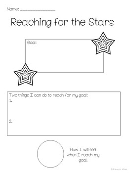 Character Ed Lesson on Self Discipline & Goal Setting: Reach for the Stars