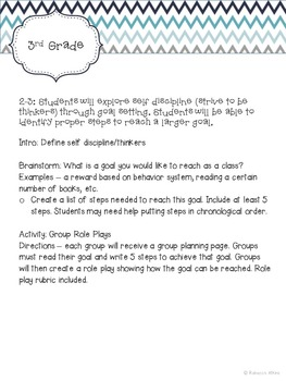 Character Ed Lesson on Self Discipline & Goal Setting: Set a Goal Like a Pro