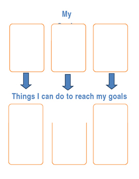 Goal Setting Sheet: Things I Can Do to Reach my Goal