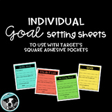 Goal Setting Sheets for Target Square Adhesive Pockets