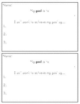 Goal Setting Slips