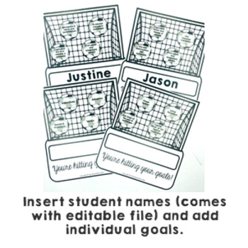 Goal Setting Soccer Themed Common Core Writing and Math