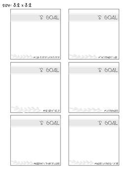 Goal Setting Squares