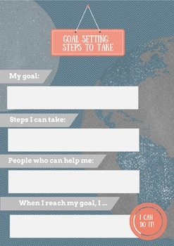 Goal Setting: Steps to Take worksheet for counseling sessions