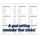 Back to School: Goal Setting Sticky Note Templates Growth Mindset