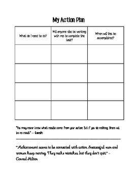 Goal Setting Student Action Plan