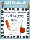 FREE Goal Setting Student Sheet for Parent Teacher Conferences