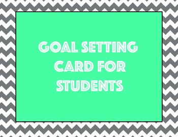 Goals and Goal Setting (Student and Teacher)