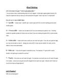Goal Setting & Study Plan