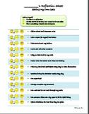 Goal Setting Study Skills Character Ed WORKSHEET PBIS