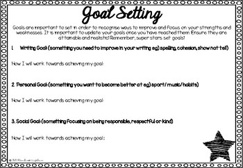 Goal Setting - Super Stars