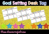 Individual Smart Goal Setting Desk Tags - Super Stars Set Goals