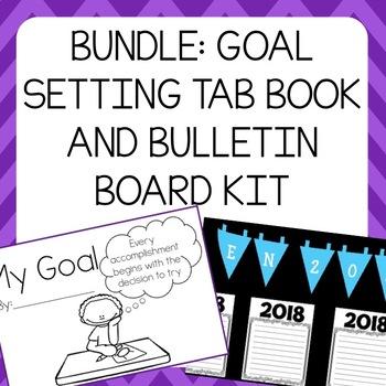 Goal Setting Tab Book & Bulletin Board Kit - Librito de metas y kit de cartelera