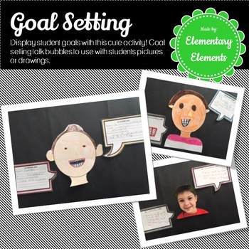 Goal Setting Talk Bubble Activity