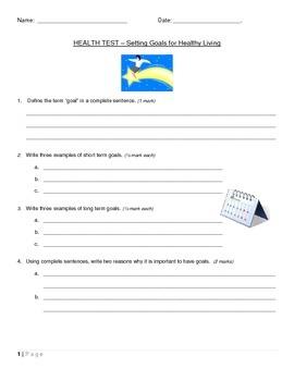 Goal Setting Test - Written Response
