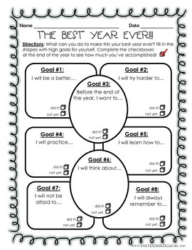 Goal Setting: The Best Year Ever!