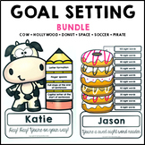 Goal Setting Themed Common Core Writing and Math Bundle