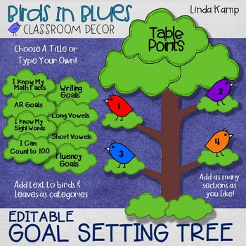 Goal Setting Tree (EDITABLE)