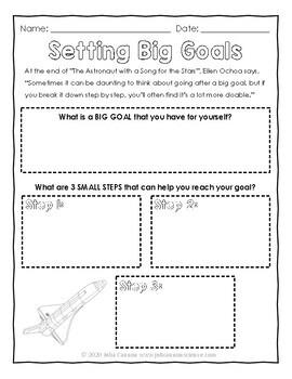 Goal Setting Using the Story of Dr. Ellen Ochoa - Science Goals