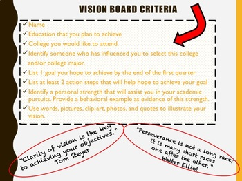 Goal Setting, Vision Boards, Mission Statements, Pennant Projects