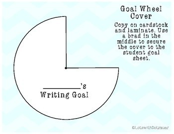 Goal Setting Wheel: Writing 2nd Grade Edition