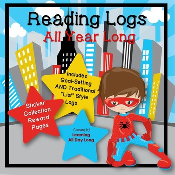 Goal Setting With Reading Logs: Superhero Edition!