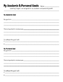 Goal Setting Worksheet - Academic and Personal