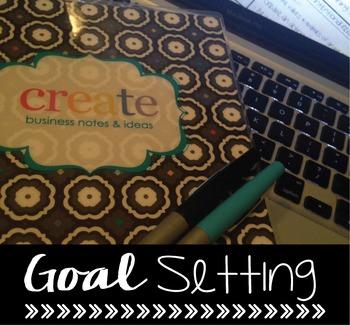 Goal Setting Worksheet {Editable}