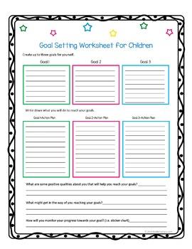 Executive Functioning: Goal Setting Worksheet Freebie!