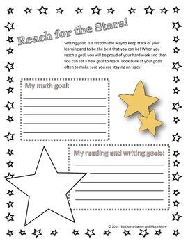 Goal Setting Worksheet / Handout for Math & ELA goals
