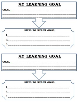 Goal Setting Worksheet: Simple and Clear for kids!