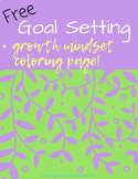 Goal Setting Worksheet with Mindfulness Coloring