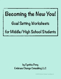 New Years 2018 - Goal Setting Worksheets - Middle/High School