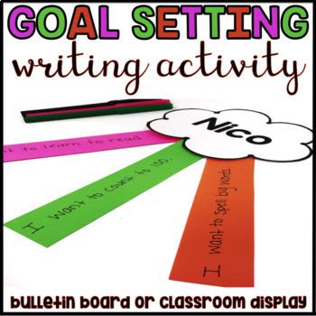 Goal Setting Writing Activity: Hopes & Dreams Rainbow Bulletin Board