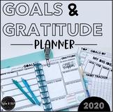 Goal Setting and Gratitude Tracker: Editable Planner Inserts for Happy Planner