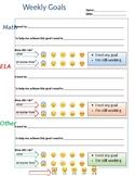 Goal Setting - editable - weekly student goals - personali
